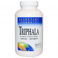 Planetary Herbals, Трифала, здоровье желудочно-кишечного тракта, 1,000 мг, 180 таблеток
