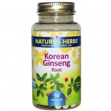 Natures Herbs, Корень корейского женьшеня, 50 капсул
