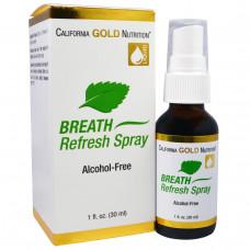 California Gold Nutrition, Спрей освежения дыхания, 1 жидкая унция (30 мл)