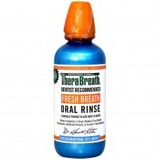TheraBreath, Полоскание для рта для свежего дыхания, с освежающим ледяным вкусом мяты, 16 жидких унций (473 мл)