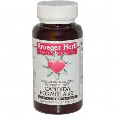 Kroeger Herb Co, Candida Formula # 2, 100 вегетарианских капсул
