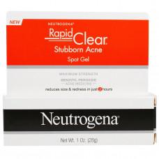 Neutrogena,  Гель для точечного нанесения от застарелых прыщей, сильнодействующий,  (28 г)