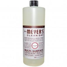 Mrs. Meyers Clean Day, Концентрат для очищения различного рода поверхностей, с запахом лаванды, 32 жидкие унции (946 мл)