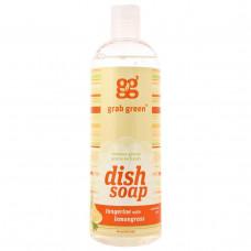 GrabGreen, Средство для мытья посуды, мандарин и лемонграсс. без отдушек, 16 унций (473 мл)