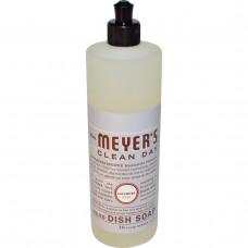 Mrs. Meyers Clean Day, Жидкое моющее средство для посуды, с запахом лаванды, 16 жидких унций (473 мл)