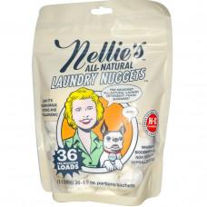 Nellies All-Natural, Нагетсы для стирки белья, без запаха, 36 загрузок, 1/2 унций каждая