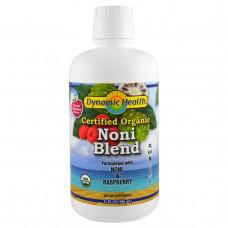 Dynamic Health Laboratories, Органический сертифицированный сок нони с Таити, со вкусом малины, 32 жидкие унции (946 мл)