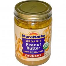 MaraNatha, Органическое арахисовое масло, хрустящее, 16 унций (454 г)