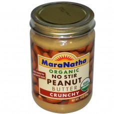MaraNatha, Органическое хрустящее арахисовое масло, не требует перемешивания, 16 унций (454 г)