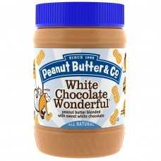 Peanut Butter & Co., White Chocolate Wonderful, арахисовое масло, смешанное со сладким белым шоколадом, 454 г