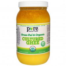 Pure Indian Foods, Органическое гхи из сквашенных сливок и молока от коров, питающихся травой, 425 г