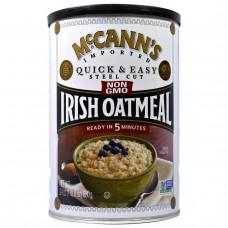 McCanns Irish Oatmeal, Быстрая и легкая молотая ирландская овсянка, 24 унции (680 г)
