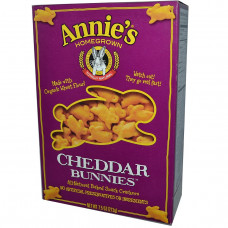 Annies Homegrown, Чеддерные кролики, запеченные крекеры, 7,5 унций (213 г)