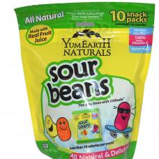 YumEarth, Натуральные кислые мармеладки, 10 пачек, 20 г в каждой