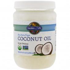 Garden of Life, Сырое кокосовое масло холодного отжима, 29 жидк. унц. (858 мл)