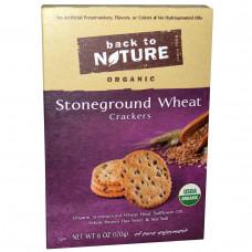 Back to Nature, Натуральные пшеничные крекеры из цельнозерновой муки, 6 унций (170 г)