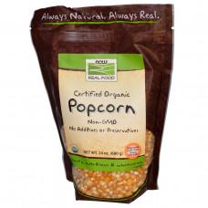 Now Foods, Real Food, Сертифицированный органический попкорн (680 г)