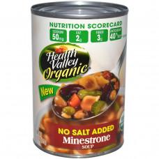 Health Valley, Органический суп минестроне, без добавления соли, 15 унций (425 г)