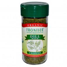 Frontier Natural Products, Органические семена укропа, рубленые, 0,71 унции (20 г)