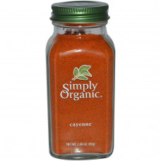 Simply Organic, Кайенский перец, 2.89 унций (82 г)