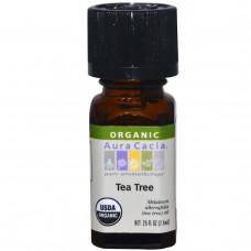 Aura Cacia, Органическое, чайное дерево, 0,25 жидких унций (7,4 мл)