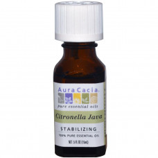 Aura Cacia, 100% чистое эфирное масло, цитронелла ява, 0,5 жидких унций (15 мл)
