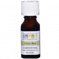 Aura Cacia, 100% чистое эфирное масло бутонов гвоздики, 0.5 жидкой унции (15 мл)