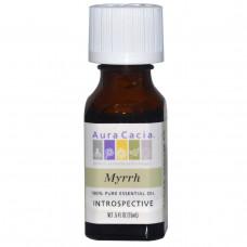 Aura Cacia, 100% чистое эфирное масло мирры, 0.5 жидкой унции (15 мл)