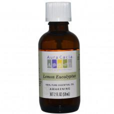 Aura Cacia, 100% чистое эфирное масло, лимонный эвкалипт, 2 жидких унции (59 мл)