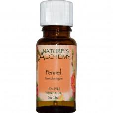 Natures Alchemy, Эфирное масло фенхеля, 0.5 унции (15 мл)
