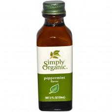 Simply Organic, Перечная мята ароматизатор, 2 жидкие унции (59 мл)