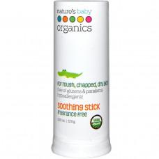 Natures Baby Organics, Успокаивающий стик, без запаха, 0.63 жидкой унции (19 мл)