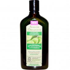 Avalon Organics, Шампунь без глютена, освежающий огурец, без запаха, 11 жидк. унц. (325 мл)