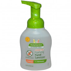 BabyGanics, Герминатор, пенящееся дезинфицирующее средство для рук с ароматом мандарина, без спирта, 8,45 жидких унций (250 мл)