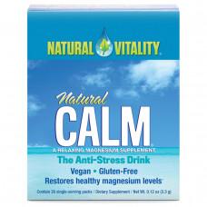 Расслабляющая добавка с магнием Natural Vitality, 12 пакетиков
