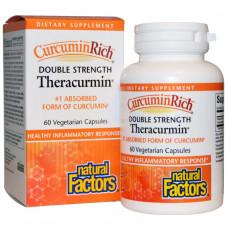 Natural Factors, CurcuminRich, Theracurmin двойной силы, 600 мг, 60 растительных капсул