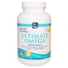 Nordic Naturals, Ultimate Omega, со вкусом лимона, 1000 мг, 180 желатиновых капсул