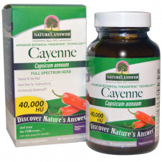 Natures Answer, Кайенский перец (Capsicum Annuum), 90 растительных капсул