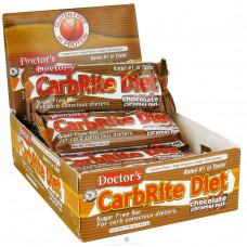 Universal Nutrition, Диета Doctors CarbRite, шоколадный карамельный лесной орех, 12 батончиков, по 2 унции (56,7 г) каждый