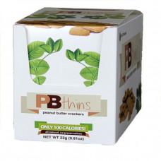 Bell Plantation, PB Thins, крекеры с арахисовым маслом, 12 пакетиков, 0,81 унции (22 г) каждый