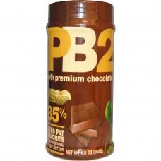 Bell Plantation, PB2, Арахисовое масло в форме сухого порошка с шоколадом высшего качества, 6.5 унций (184 г)