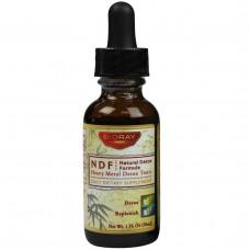 BioRay Inc., NDF (натуральное органическое средство для выведения токсинов), 1 жидкая унция (30 мл)