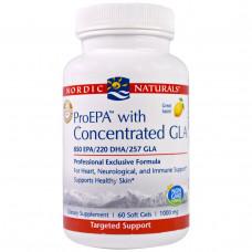 Nordic Naturals Professional, ПроЭПК с концентрированной ГЛК, пищевая добавка с ЭПК (EPA) и концентрированной ГЛК (GLA), с лимонным вкусом, 1000 мг,