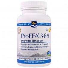 Nordic Naturals Professional, ПроНЖК- 3-6-9, пищевая добавка с НЖК (EFA), 1000 мг, 90 мягких желатиновых капсул с жидкостью