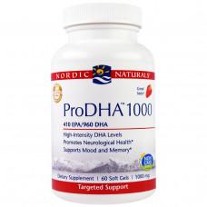 Nordic Naturals Professional, ПроДГК 1000, пищевая добавка с ДГК (DHA) с клубничным вкусом, 1000 мг, 60 мягких желатиновых капсул с жидкостью