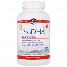 Nordic Naturals Professional, ПроДГК, пищевая добавка с ДГК (DHA), с клубничным вкусом, 500 мг, 120 мягких желатиновых капсул с жидкостью