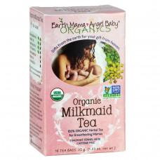 Earth Mama Angel Baby, Органический чай с луговым сердечником, ароматный чай с фенхелем, без кофеина, 16 чайных пакетиков, 1.23 унции (35 г)