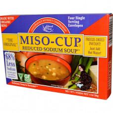 Edward & Sons, Суп мисо с пониженным содержанием натрия, 4 порции, 7.2 гр.