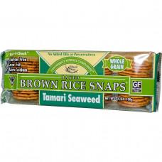 Edward & Sons, Печенье из запеченного коричневого риса, водоросли Тамари, 3.5 унции (100 г)