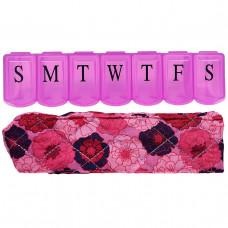 Apex, Органайзер для таблеток с декоративным чехлом, большого размера, 1 органайзер